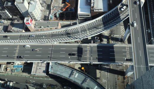 阪神高速-西船場JCTの建設状況 19.01