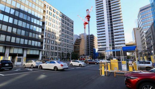 「サンケイビル」がオフィスビル開発用地として取得した「オンワード樫山本館・別館跡地」でボーリング調査が行われる
