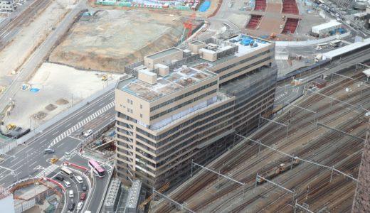 大阪ステーションシティ駐車場を増築する(仮称)大阪駅新北ビル別棟駐車場の状況 19.02