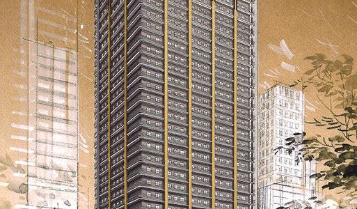【2019年08月竣工】アパホテル&リゾート〈御堂筋本町駅タワー〉の状況 19.03