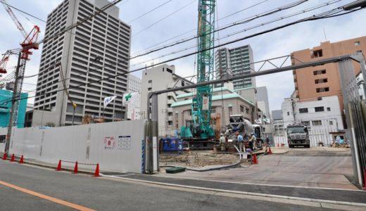 【2021年6月竣工】ピアッツァタワー上本町EASTの建設状況 19.03