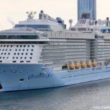 【168,666トン】アジア最大の客船『クァンタム・オブ・ザ・シーズ』が大阪・天保山に入港!