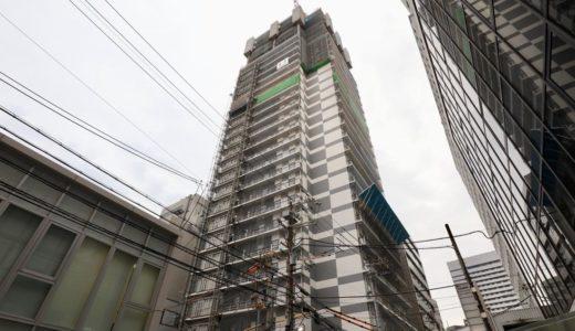 【2019年10月オープン】ホテルWBF新大阪スカイタワーの建設状況 19.03