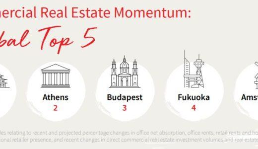 世界の都市活力ランキング「2019年版シティ モメンタム インデックス」の商業用不動産の指標で大阪が世界1位に!