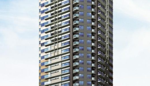 【2020年10月竣工】グランドメゾン上町台レジデンスタワーの建設状況 19.04