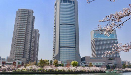 【お花見2019】毛馬桜之宮公園で桜と水辺に聳えるOAPの高層ビルを愛でる