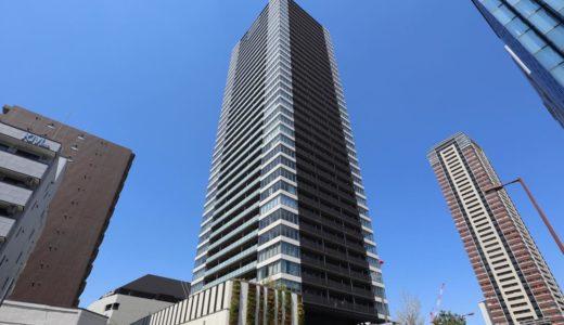 竣工したグランドメゾン新梅田タワーの状況 19.04