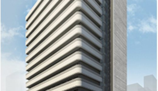 (仮称)北浜ビル『(仮称)北浜ビル建替計画』、神戸土地建物が建設中のシェアハウスの建設状況 19.05