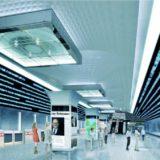 【2019年12月下旬完成】御堂筋線梅田駅のアーチ空間に設置される巨大デジタルサイネージの状況 19.05