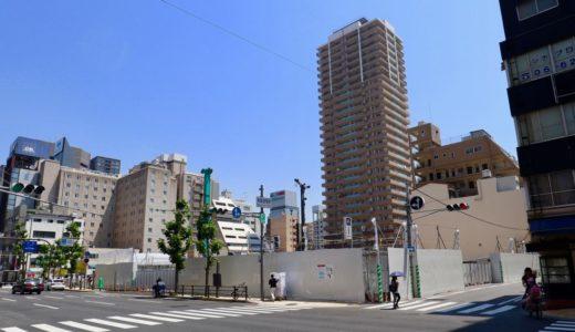 【2021年9月竣工】長堀橋駅近くで計画中の大阪厚生信用金庫新本店ビルの状況 19.05