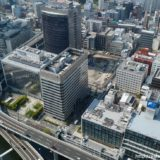 【解体工事中】堂島二丁目特定街区、旧・電通大阪ビルの解体工事の状況 19.05