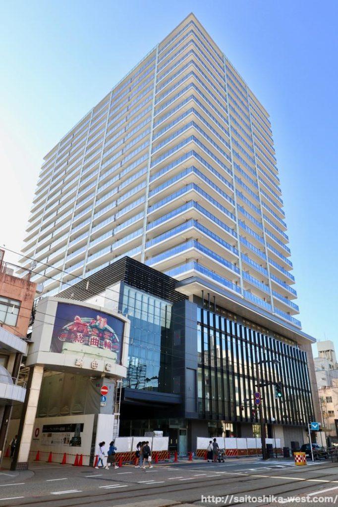 西武富山店跡地の再開発「プレミストタワー総曲輪」の建設状況 19.05