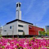 竣工したNHK新金沢放送会館の状況 19.05