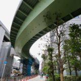 阪神高速-西船場JCTの建設状況 19.06