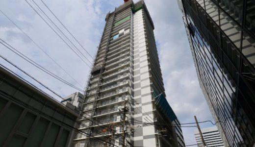 【2019年10月オープン】ホテルWBF新大阪スカイタワーの建設状況 19.06