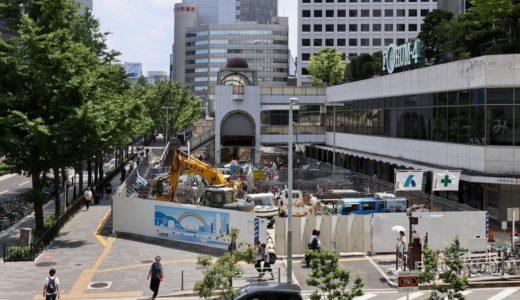大阪駅前第4ビル1階東側公開空地整備工事の状況 19.06