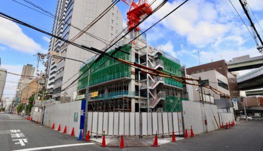 【2021年春開業】(仮称)ユニゾインエクスプレス大阪南本町の建設状況 19.07