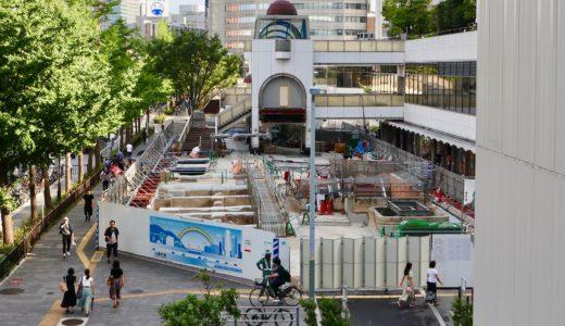 大阪駅前第4ビル1階東側公開空地整備工事の状況 19.08