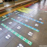 大阪駅環状線1番ホームのアイコンを活用した乗車位置案内が解りやすい!
