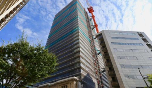 ザ・パークハウス 神戸タワーの建設状況 19.08