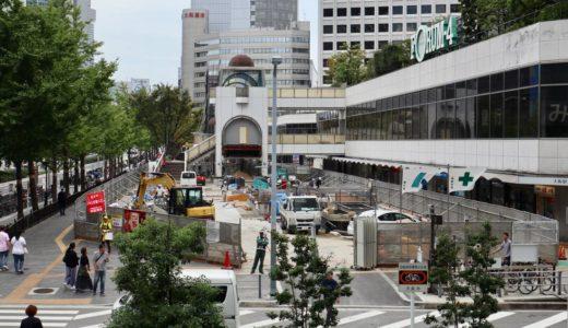 大阪駅前第4ビル1階東側公開空地整備工事の状況 19.09