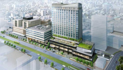 シェラトン鹿児島ホテルが進出する「キラメキキテラス」建設工事の状況 20.08【2023年春開業】