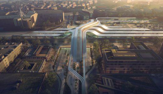 まるでナスカの地上絵!ザハ・ハディッド・アーキテクツがデザインしたエストニアの駅が未来過ぎる!