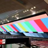 梅田駅の巨大LEDモニター「Umeda Metro Vision」の足場がほぼ撤去されビジョン全体が露出!