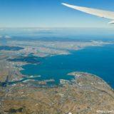 瀬戸内海から徳島上空を旋回し鳴門大橋を愛でる