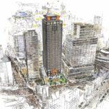 アパホテル&リゾート〈大阪難波駅タワー〉西日本最大客室数2064室タワーホテルの状況 21.06【2024年5月竣工】