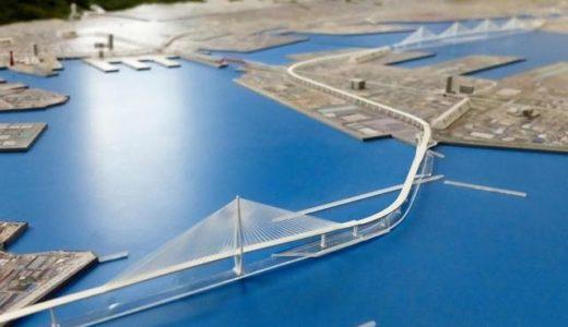 阪神高速湾岸線西進伸ー長大橋の形式決定!新港・灘浜航路は連続斜張橋、西航路は1主塔斜張橋!