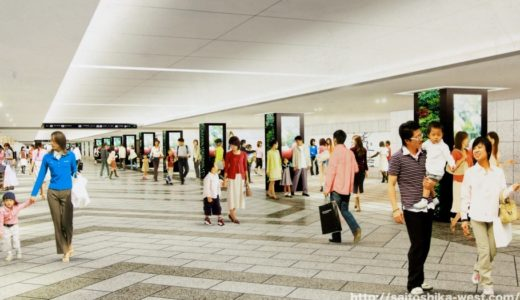 新通路(西通路)が暫定開通!大阪駅前東西地下通路の改良工事の状況 21.02【2023年3月完成予定】