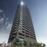 ピアッツァタワー上本町EASTの建設状況 20.01【2021年6月竣工】