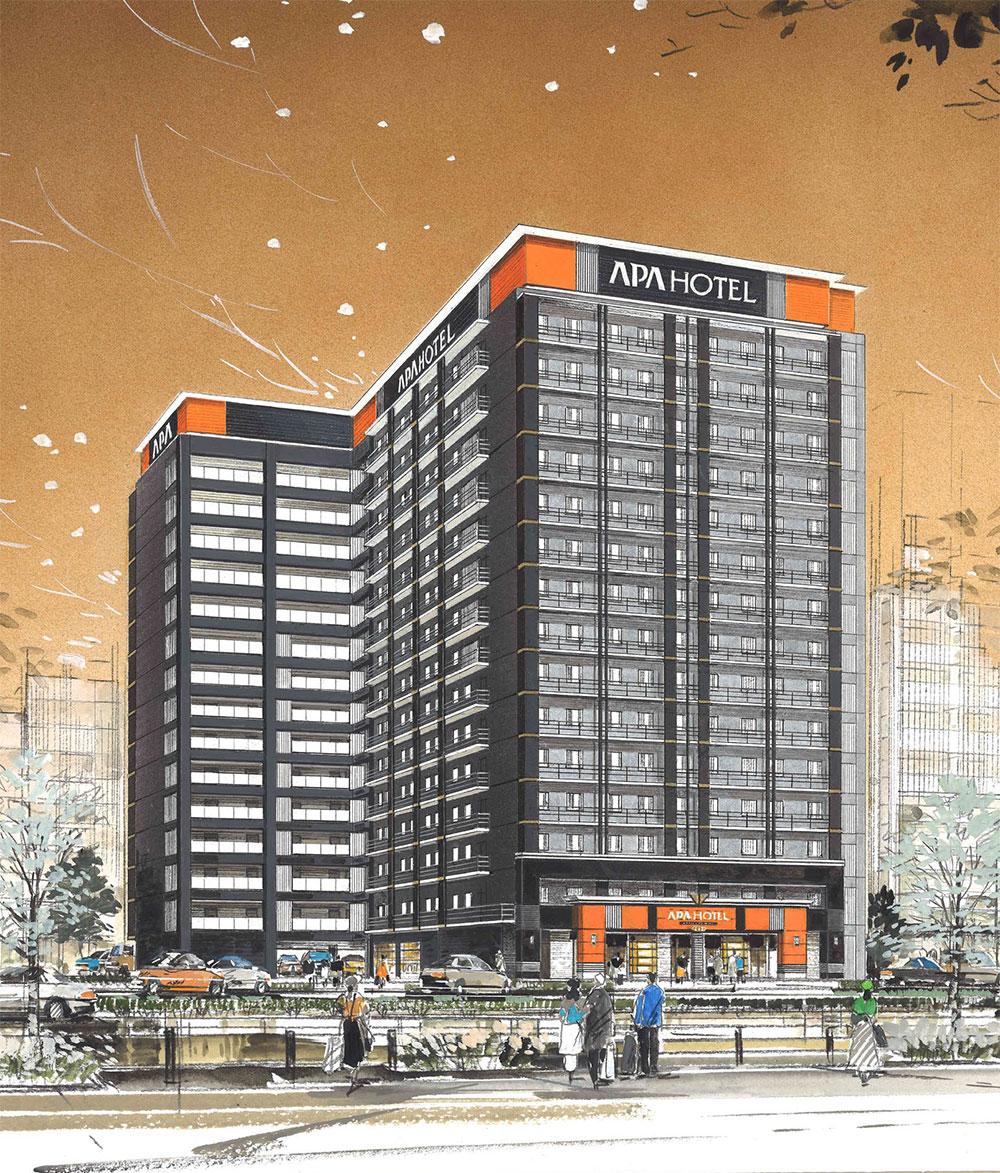 アパホテル新大阪駅前の建設状況 20.04【2020年5月26日開業予定】