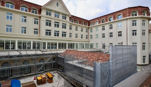 宝塚ホテル移転・新築計画の建設状況 20.01【2020年5月14日開業】