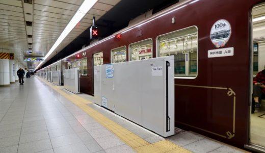 神戸市営地下鉄ー西神・山手線 三宮駅ホームドア(可動式ホーム柵)の状況 20.01