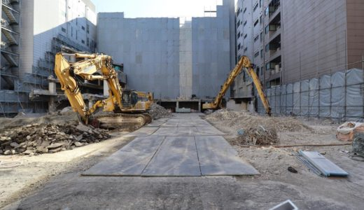 【再開発の卵】新大阪・イーグルボウル(AZADビル)解体工事の状況 20.01