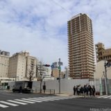 大阪厚生信用金庫新本店ビルの状況 20.01【2021年9月竣工】