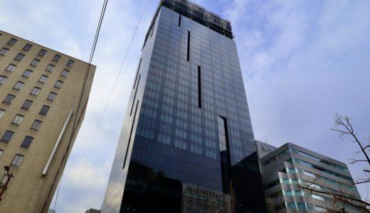 W OSAKA(W大阪)マリオットと積水ハウスが御堂筋沿いに建設中のWホテルの状況 20.01【2020年10月竣工】