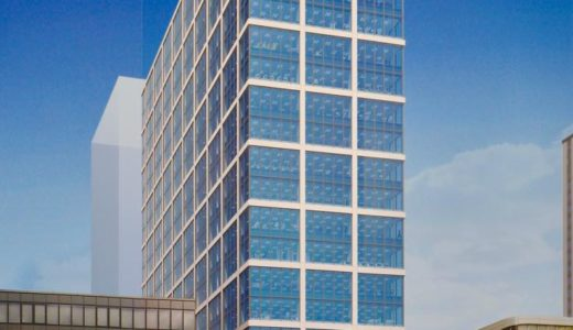(仮称)本町サンケイビルの建設状況 20.01【2021年8月竣工予定】