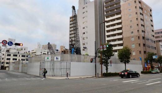 日本IBM大阪事業所跡地の再開発(仮称)西区靭本町計画の状況 19.12【2023年03月竣工】