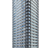 シエリア大阪上町台パークタワーの建設状況 20.02【2021年09月竣工】