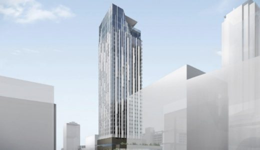 (仮称)センタラグランドホテル大阪の状況 20.02【2023年3月竣工】