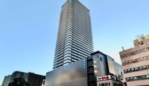 【竣工】グランドメゾン御園座タワーの夕景