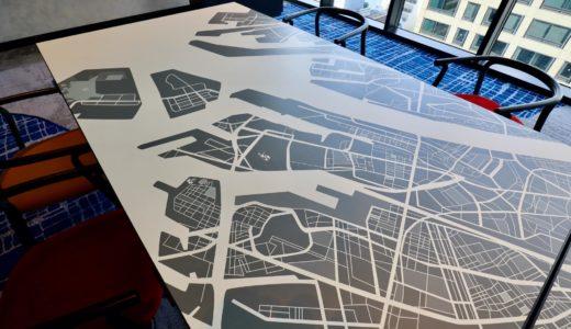 大阪エクセルホテル東急の「地図が描かれたテーブル」に大興奮!