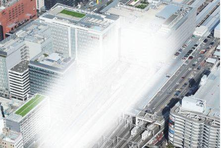 博多駅空中都市構想 JR博多シティの増床は地上約60m、オフィス・ホテルを勧誘【博多コネクティッド】