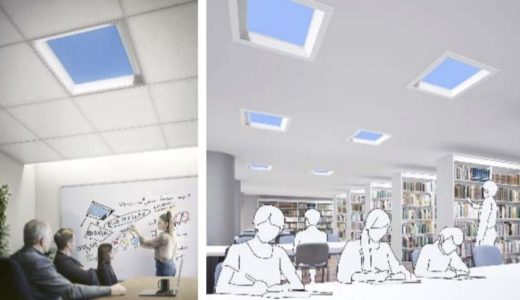 三菱電機のLED青空照明「misola(ミソラ)」は「レイリー散乱」を模擬する事で自然な光を表現!