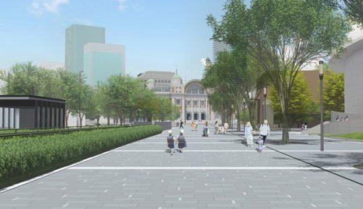 中之島通ー歩行者空間化(公園化)整備工事の状況 20.03【2020年5月29日まで】