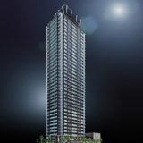 ジオタワー南森町(仮称)大阪市北区東天満2丁目計画の建設状況 20.03【2021年03月竣工】