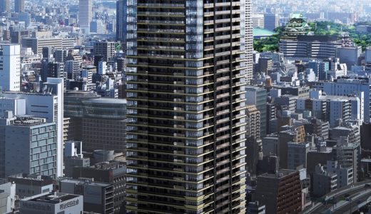 MJR堺筋本町タワー(ザ・船場タワープロジェクト)の建設状況 20.03【2021年04月竣工】